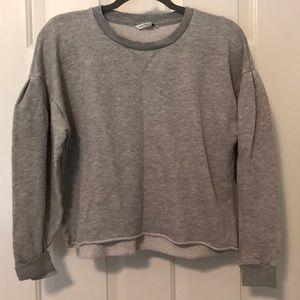 American Eagle gray crop sweatshirt